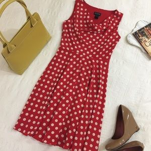 en focus studio red polkadot dress size 4